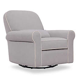 DaVinci Ruby Recliner and Glider in Grey/Cream