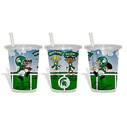 Baby Fanatic® 3-Pack 10 oz. Michigan State University Sip & Go Cups