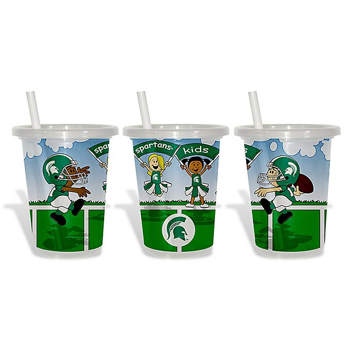 Alternate image 1 for Baby Fanatic® 3-Pack 10 oz. Michigan State University Sip & Go Cups