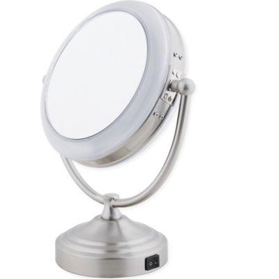 Floxite Daylight 1x 10x Cosmetic Mirror, Floxite 10x 1x Lighted Folding Vanity Travel Mirror