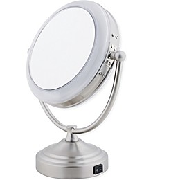 Floxite Daylight 1x/10x Cosmetic Mirror in Satin Nickel