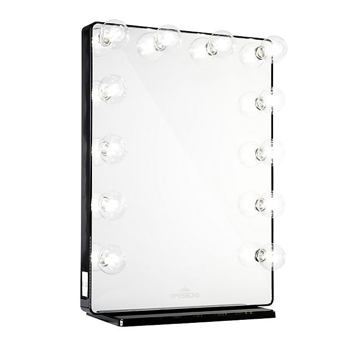 Alternate image 1 for Impressions Hollywood Glow™ XL 2.0 Vanity Mirror in Black