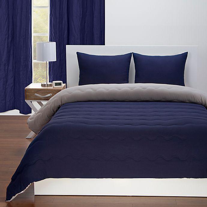 Alternate image 1 for Crayola® Reversible Solid Comforter Set