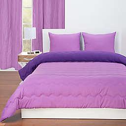 Crayola® Reversible Solid Full/Queen Comforter Set in Violet/Purple