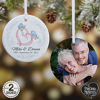 Precious Moments® 2-Sided Anniversary Glossy Photo Christmas Ornament