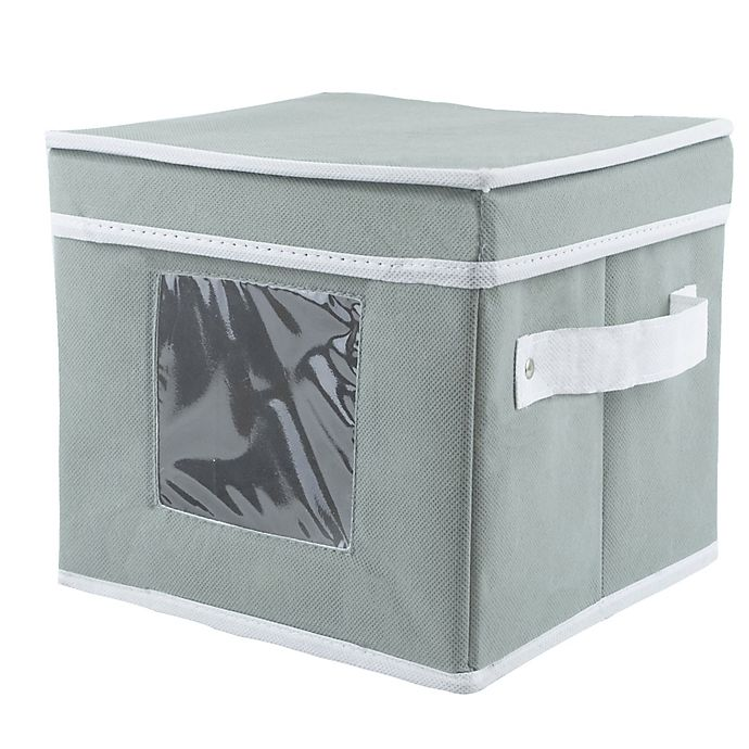 Alternate image 1 for Dessert Plate Dishware Storage Box in Grey