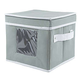 Dessert Plate Dishware Storage Box in Grey