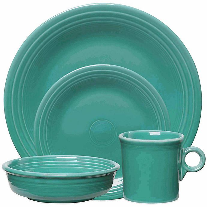 Alternate image 1 for Fiesta® 4-Piece Place Setting in Turquoise