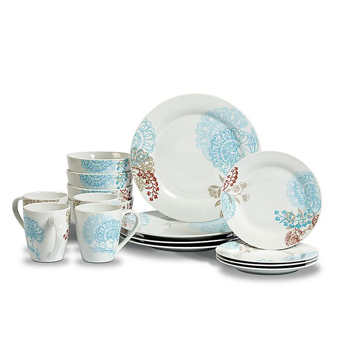 Alternate image 1 for Tabletops Gallery® Emma 16-Piece Dinnerware Set