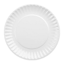 DII Melamine Picnic Plates in White (Set of 12)