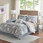 Madison Park Lily 9-Piece Queen Comforter Set in Grey