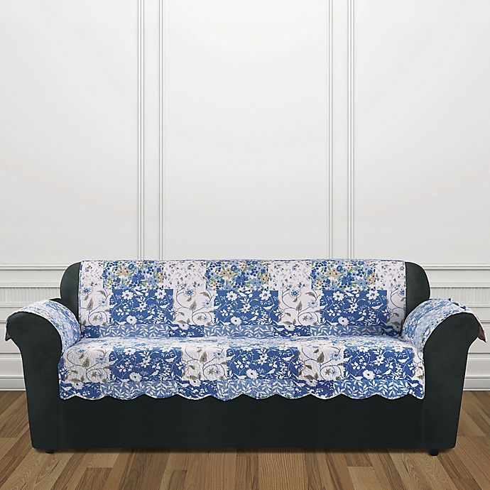 Alternate image 1 for Sure Fit® Heirloom Sofa Cover in Bluebell