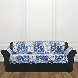 Sure Fit® Heirloom Sofa Cover in Bluebell