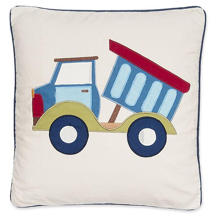 Alternate image 1 for Levtex Home Carter Trucks Decorative Throw Pillow in White