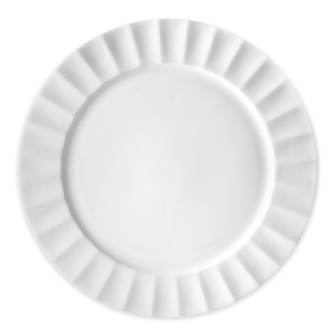 Alternate image 1 for Nevaeh White® by Fitz and Floyd® Fluted Dinner Plate