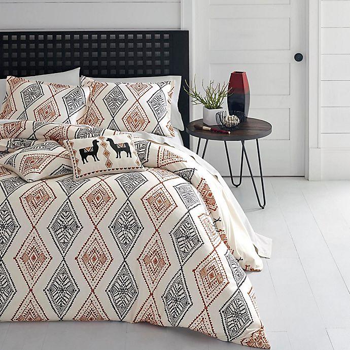 Alternate image 1 for Azalea Skye® Cusco Rhombus 3-Piece Reversible Duvet Cover Set in Beige