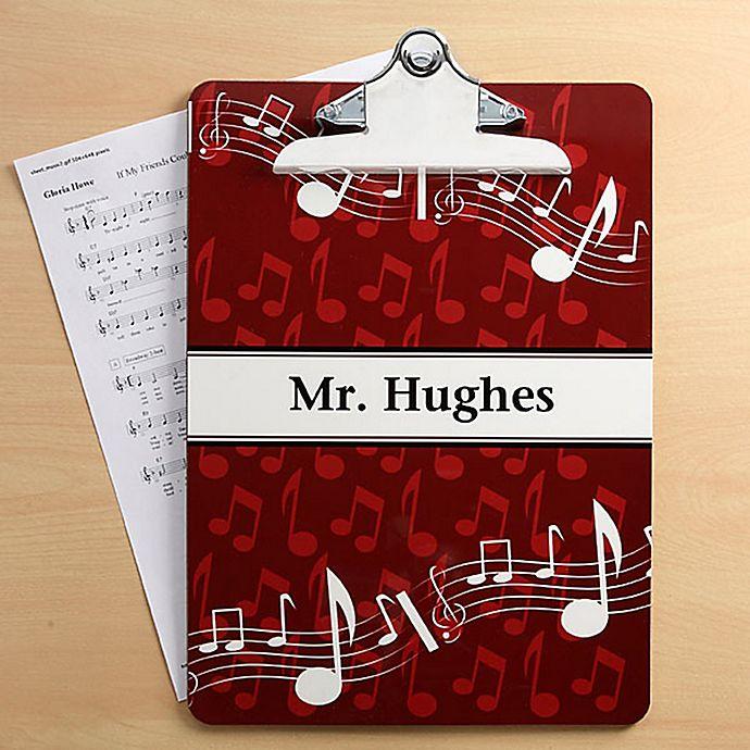 Alternate image 1 for Music Teacher Clipboard