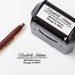 Diamond Design Self-Inking Address Stamp