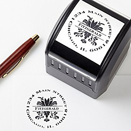 Damask Greetings Custom Address Stamp