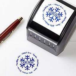 Snowflake Greetings Custom Address Stamp