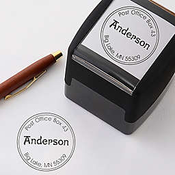 In The Round Self-Inking Address Stamp