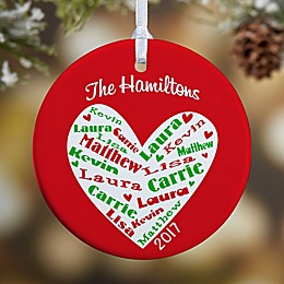 Heart of Love 1-Sided Glossy Christmas Ornament