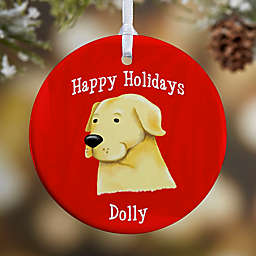 Top Dog Breeds 1-Sided Glossy Christmas Ornament
