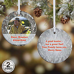 Camouflage Photo Christmas Ornament Collection