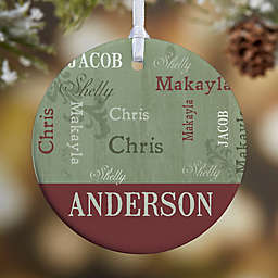 Our Loving Family 1-Sided Glossy Christmas Ornament