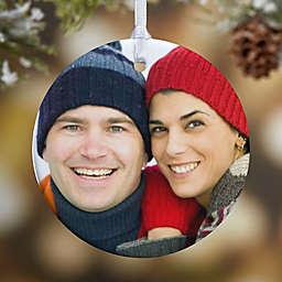 Picture Perfect 1-Sided Glossy Photo Christmas Ornament