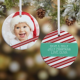 Candy Cane Photo Christmas Ornament Collection