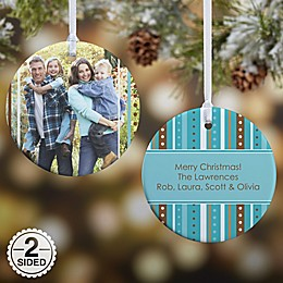 Stripe Photo Christmas Ornament Collection