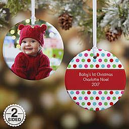 Polka Dot Christmas Photo Christmas Ornament Collection