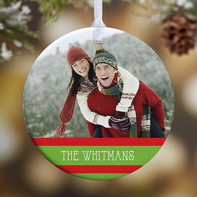 Alternate image 1 for Classic Christmas Photo 1-Sided Glossy Christmas Ornament