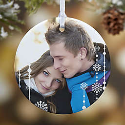 Christmas Snowflake 1-Sided Glossy Photo Christmas Ornament