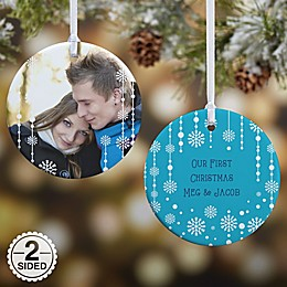 Christmas Snowflake 2-Sided Glossy Photo Christmas Ornament