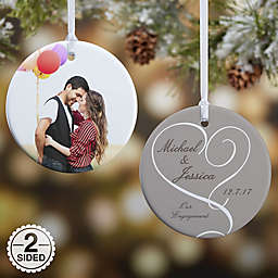 Our Engagement Photo Christmas Ornament Collection