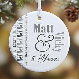 Anniversary Memories 1-Sided Glossy Christmas Ornament