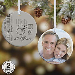 Anniversary Memories Christmas Ornament Collection