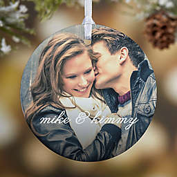 You & I 1-Sided Glossy Photo Christmas Ornament