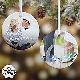 You & I 2-Sided Glossy Photo Christmas Ornament