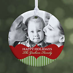 Classic Holiday 1-Sided Glossy Photo Christmas Ornament