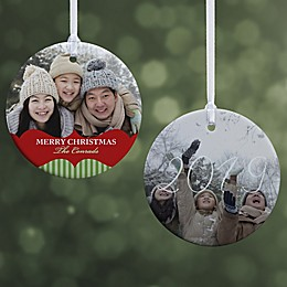 Classic Holiday Photo Christmas Ornament Collection
