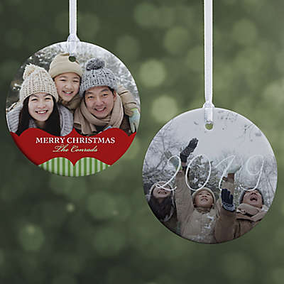 Classic Holiday 2-Sided Glossy Photo Christmas Ornament