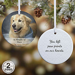Pet Photo Memories 2-Sided Glossy Christmas Ornament