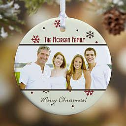 Photo Memories 1-Sided Snowflake Glossy Christmas Ornament