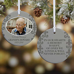In Loving Memory Photo Memorial Christmas Ornament For Him Collection