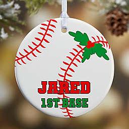 Baseball 1-Sided Glossy Christmas Ornament