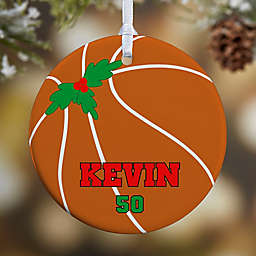 Basketball 1-Sided Glossy Christmas Ornament