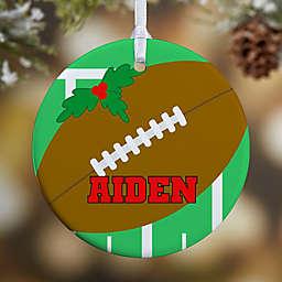 Football 1-Sided Glossy Christmas Ornament